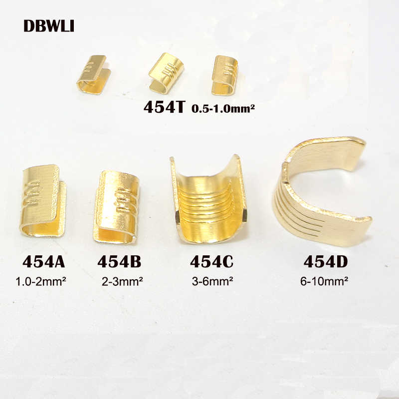 100pcs/lot  DJ454A/B/C/D /T U-shaped terminal tab cold inserts connectors / terminal connector cable / wire cable lug,1-10mm2