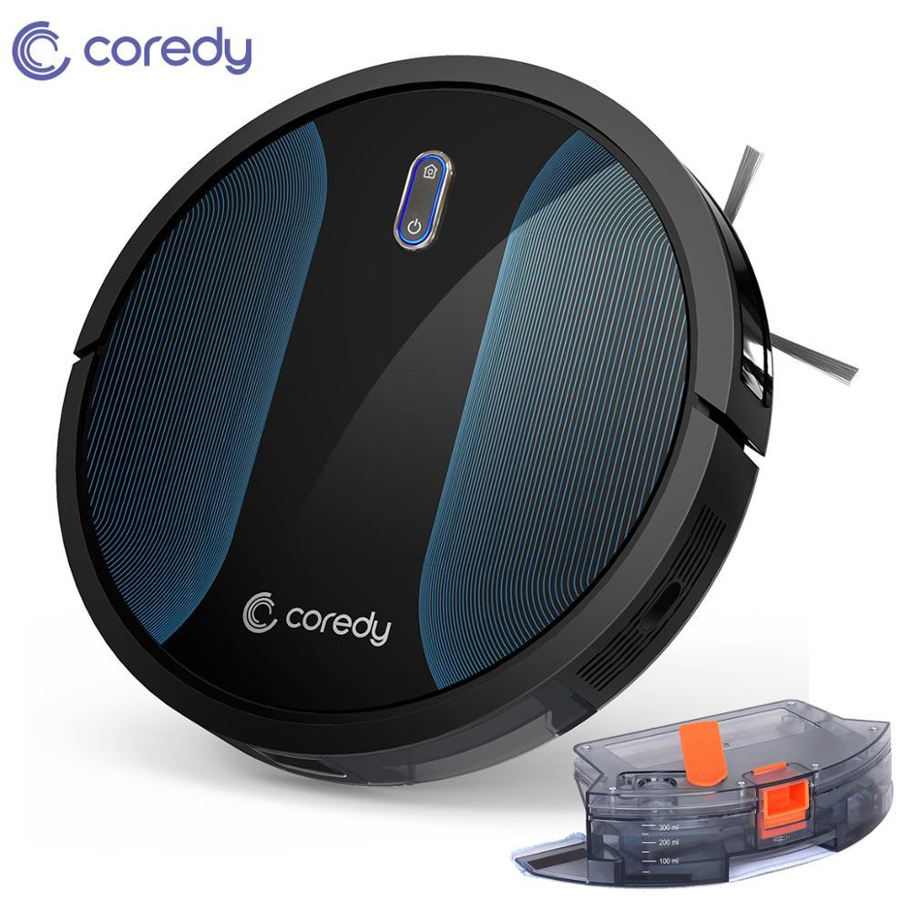 Coredy r500 + inteligente limpo robô aspirador de pó tanque água mop tapete aspirador limpeza cabelo chão esfregar robô