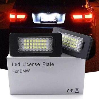 LED Luzes Da Placa de Licença de carro placa de suporte da lâmpada Para BMW E81 numer E82 E90 E91 E92 E93 E60 E61 E39 x1 E84 X5 E70 X6 E7 auto luz