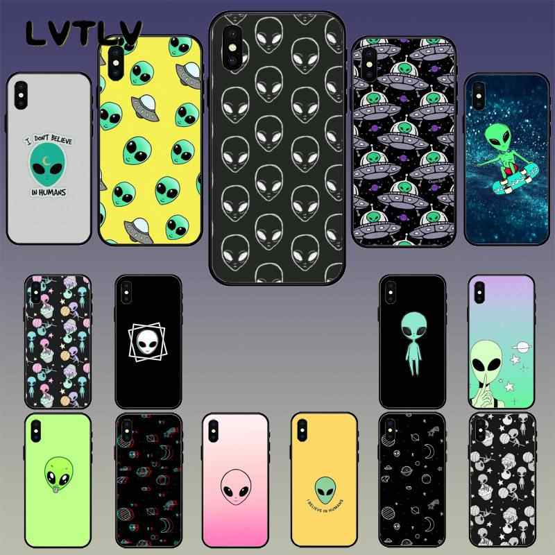 LVTLV alien space trip aesthetic desert Smart Cover Black Shell Phone Case for iPhone 11 pro XS MAX 8 7 6 6S Plus X 5 5S SE XR