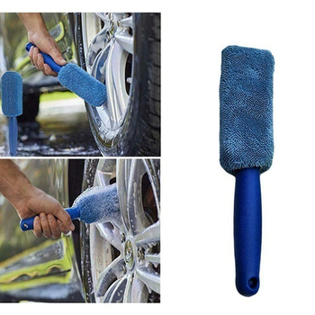 Car Wheel Brush Clean Rims Wash Tool for Subaru Forester Ascent XV WRX VIZIV Outback Legacy Impreza Crosstrek image