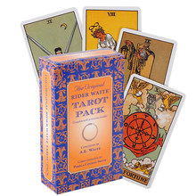 Originale rider Tarot Del Fuego gioco di carte tarocchi Deck oracolo giocattolo decantazione mistero equitazione guida elettronica predire il cervello