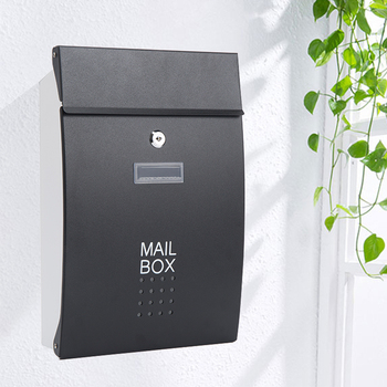 Wall Mounted Stainless Steel Mailbox Outdoor Warehouse Apartment Home Garden Letterbox Vertical Locking Mail Post Box F6011 european style villas mail outdoor wall newspaper boxes wall pastoral retro hot new mail box mailbox