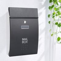 Wandmontage Rvs Mailbox Outdoor Magazijn Appartement Huis Tuin Brievenbus Verticale Locking Mail Post Box F6011