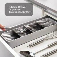 Multi layer Kitchen Separation Storage Box Drawer Organizer Tray Rack Spoon Fork Cutlery Space Saving Home Gadgets Organizer|  -
