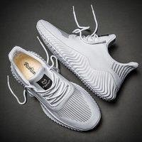 Große Größe Sommer Sport Schuhe für Mann Sport Schuhe für Männliche Turnschuhe Männer Laufschuhe für Männer Trainer Weiß Korb läufer E-366