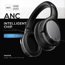 HOLY SERPENT M1 Noise Cancelling Wireless Bluetooth Headphones 48 Hours Play Time Headset with Mic Super HiFi Bass Black Red