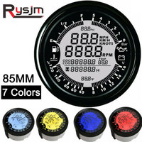 85mm 12V gps tachometer 6 in 1 Multifunction gauge boat oil Pressure Gauge 10 Bar speedometer boat tacometro rpm meter moto