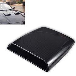 1x Universal Car klapa maski Scoop Air Flow osłona wentylacyjna wlotu dekoracyjne 27*25 biały/czarny/srebrny/Auto osłona wentylacyjna przepływu powietrza|Moskitiery|Samochody i motocykle -