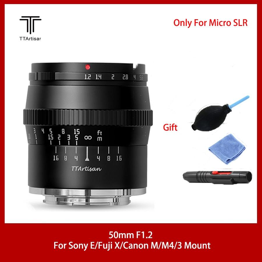 TTArtisan 50 мм f1.2 APS-C объектив для SONEY E FUJI X CANON M43 Mount Camera Большая диафрагма, избавьтесь от загроможденного фона