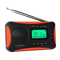 V116 Newest High Quality Portable F M / MW / SW Transistor Radio With AM FM Support Micro SD Card AUXMP3 Player Speaker Radio
