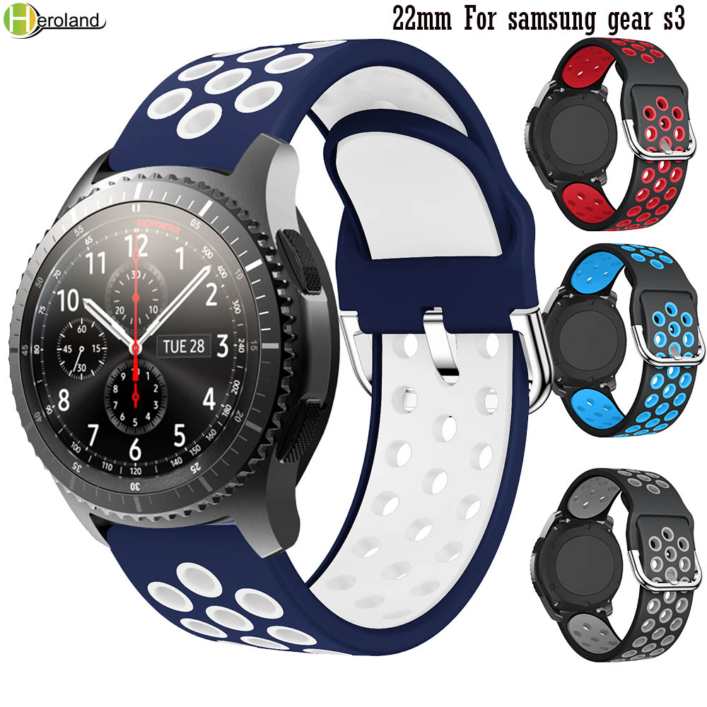 22MM Silicone Watch Band Strap Belt For Samsung Gear S3 Frontier Classic Smart Watch Sport WristBands For Huawei Watch 2 Classic