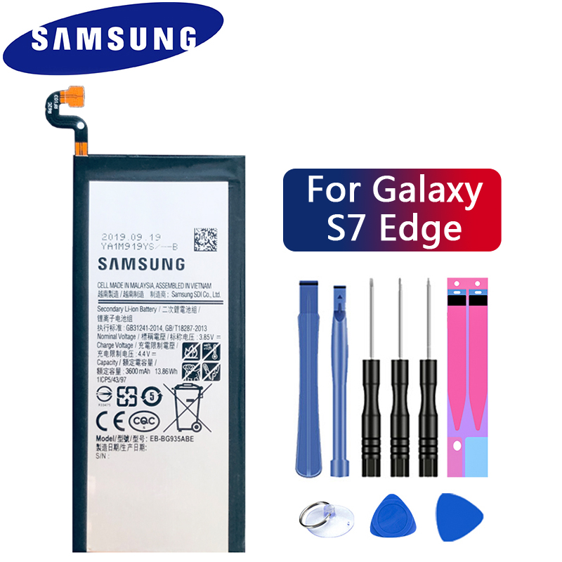 Original Samsung Spare Phone Battery EB-BG935ABE For Samsung GALAXY S7 Edge <font><b>G9350</b></font> G935FD <font><b>SM</b></font>-G935F Authentic Battery 3600mAh image