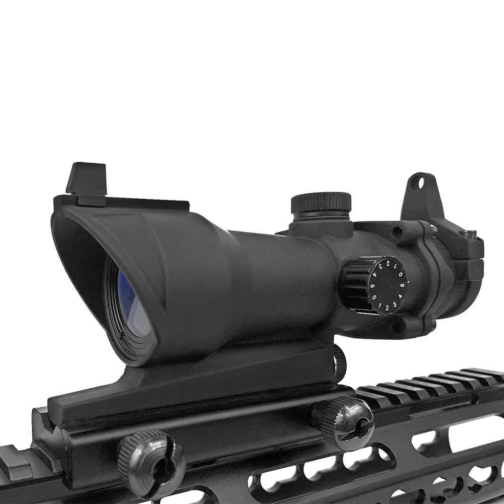 LUGER ACOG 1X32 kırmızı nokta görüşü kapsam taktik kırmızı yeşil nokta tüfek kapsam 20mm raylı Airsoft silah avcılık için optik kapsam