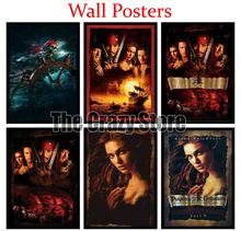 Pirates of the Caribbean The Curse Black Pearl Film White Kraft Paper Poster Home Decor Painting classic prints 42X30cm