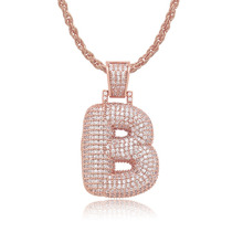 Fashion High Quality A-Z Custom Name Bubble Letters Necklaces & Pendant Chain For Men Women Cubic Zircon Hip Hop Jewelry custom a z initial bubble letter name crown drip letters pendant necklaces men women gold silver color cz hip hop jewelry gifts