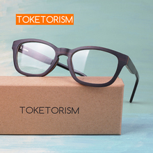 Toketorism acetate and wood eyeglasses optical men glasses frame retro women eyewear 2106