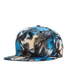 Cool 3D Print Coconut Tree Hip Hop Cap for Women Man Snapback Hat Casquette Homme