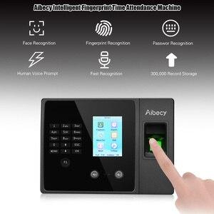 Image 2 - Aibecy Biometric Fingerprint Time Attendance Machine with HD Display Screen Support Face Fingerprint Password Multi language