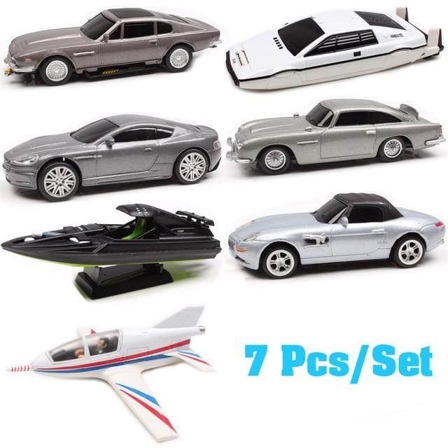 7pcs/set 1:48 Suntory  007 James Bond  Lotus Esprit Aston Matin DBS DB5 V8 Q Boat planes Diecasts & Toy Vehicles model Scale carDiecasts & Toy Vehicles