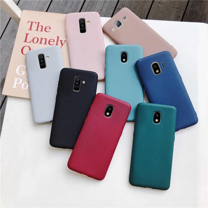 Şeker renk silikon telefon kılıfı için samsung galaxy a50 a70 a30 a40 a20 a10 galaxy a51 a71 a20e m30s a7 2018 mat yumuşak tpu kılıfları