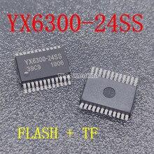 10 шт. X YX6300-24SS YX6300 серийный mp3 пятна Функция MP3 программы могут быть подключены к U диску TF карта SD карта чип YX6300-24 IC