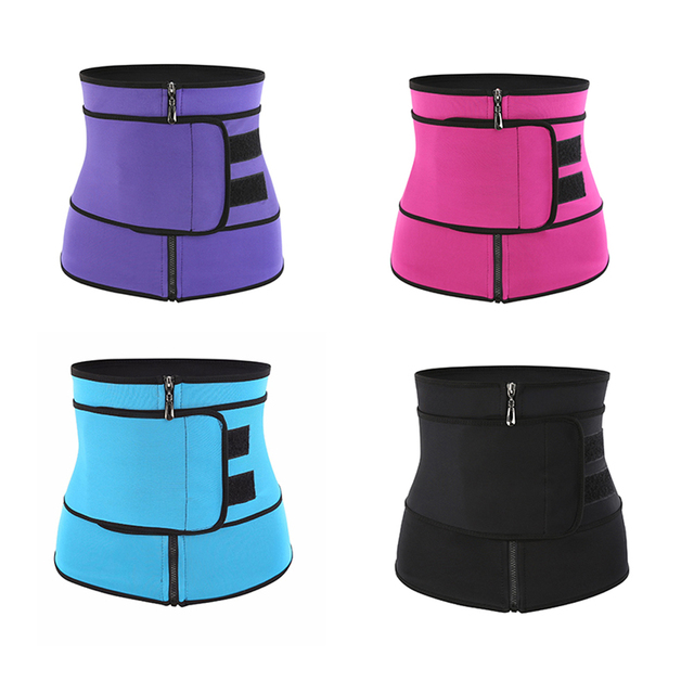 Neoprene Fitness Waist Trainer Corset Sweat Belt for Women Weight Loss Compression Trimmer Workout Body Shaper Fitness S-3XL 2