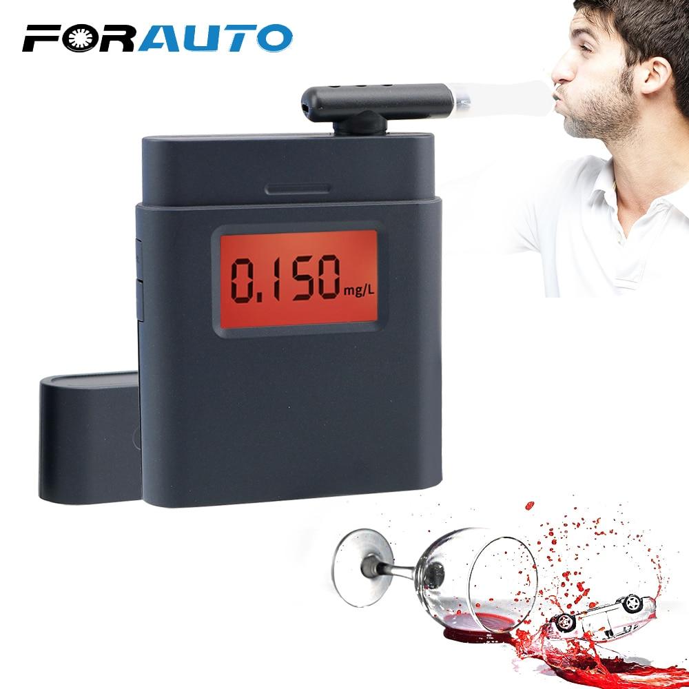 FORAUTO Mini Breath Alcohol Tester Digital High Accuracy Breath Analyzer Breathalyzer Alcohol Detector Safety Driver Portable