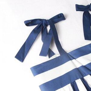 Image 4 - TWOTWINSTYLE مخطط السباغيتي فستان بحزام 2020 ملابس الصيف للنساء الشارع الشهير بوهو بلا أكمام ألف خط فساتين طويلة أنيقة