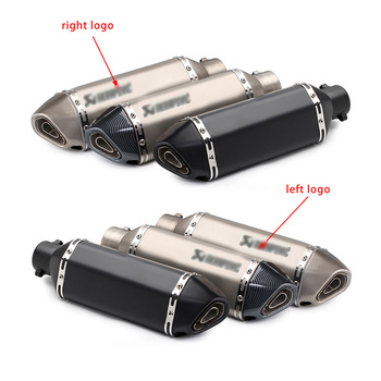 Universal Motorcycle Exhaust Pipe Muffler motor Escape moto Left & Right For RC390 Z800 GSXR750 TMAX530 XMAX300.250 CBR500 mt09 570mm 480mm 380mm universal motorcycle akrapovic exhaust muffler z900 r3 tmax530 cbr300 tnt250 bn300 hexagonal escape silencer