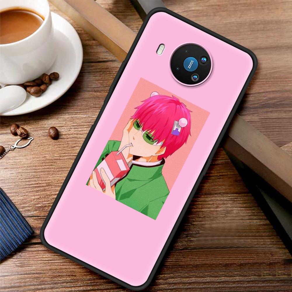 Saiki Kusuo Anime Silicone Case Funda For Nokia 2.2 2.3 3.2 4.2 7.2 1.3 5.3 8.3 5G 2.4 3.4 C3 C2 Tenen 1.4 5.4 Back Cover Coque