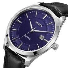 NAKZEN 2020 חדש גברים של שעונים למעלה מותג יוקרה קוורץ שעון גברים עור עמיד למים צבאי שעון גבר שעוני Relogio Masculino