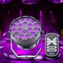 LED Violet Black Light DMX512 Stage UV Projector Spotlight Dj Disco Effect 18 Leds Sound Activated Ultraviolet Par