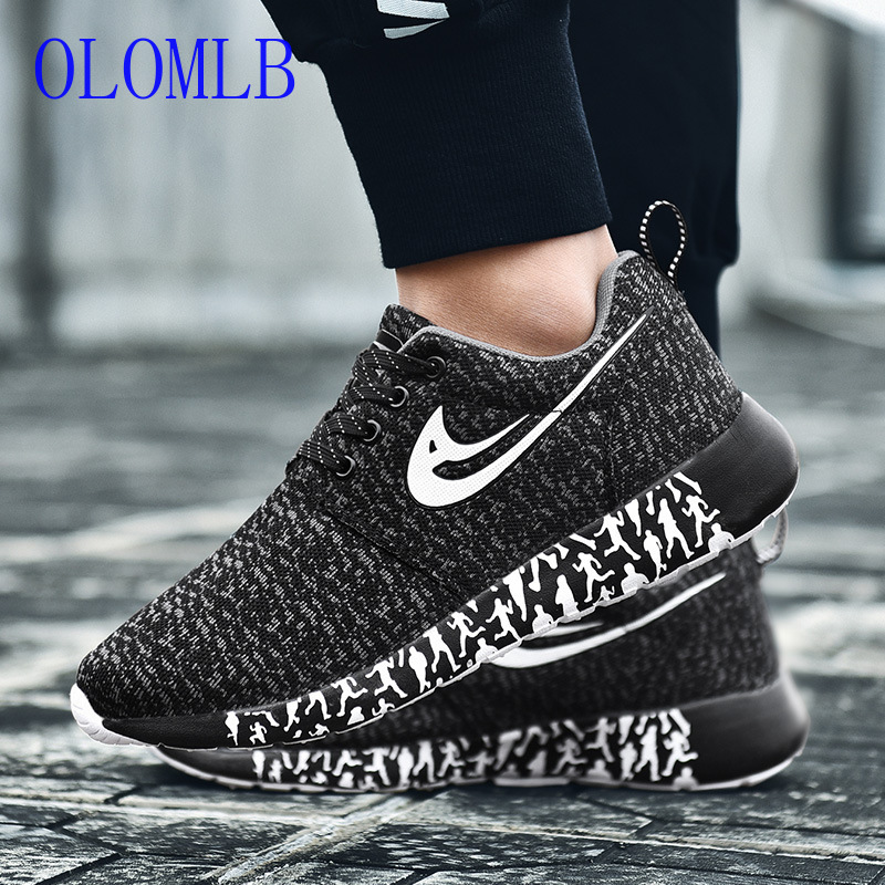 OLOMLB Sneakers Men Shoes Mesh Comfortable Outdoor Unisex Hombre-Size Fashion Masculino