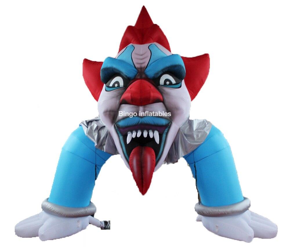 Персонализированные 5x5 м гигантское воздушное лицо клоуна надувной Хэллоуин арки для украшение для двора игрушки