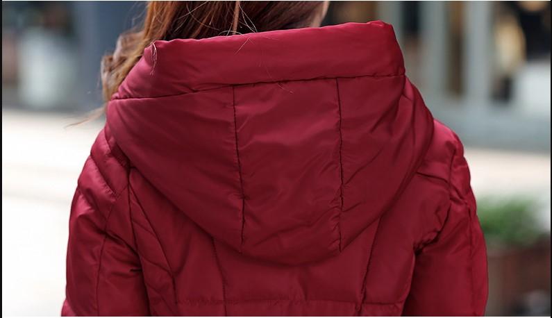 engrossar parkas casaco sólido fino longo parkas
