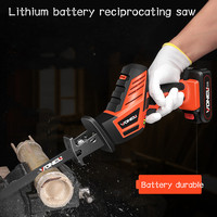 Lithium Electric Reciprocating Saw Charging Electric Saw Portable Household Portable Electric Saw Woodworking Saw