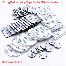 10-100pcs 3M Strong Pad Mounting Tape Double Sided Adhesive Acrylic Foam Tape Two Sides Mounting Sticky Tape Black Multiple Size