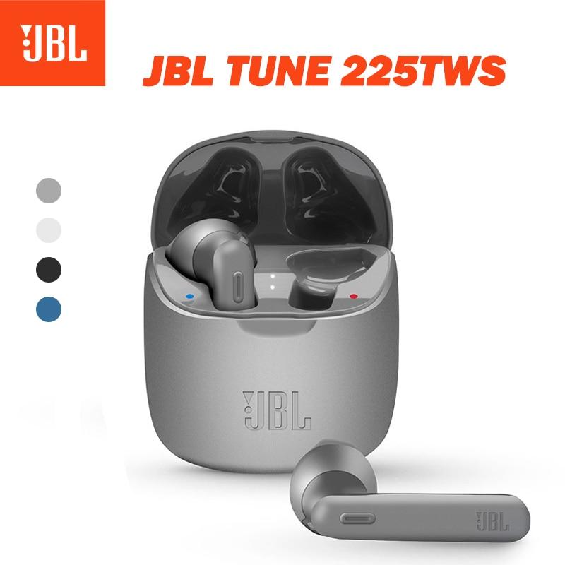 Беспроводные Bluetooth-наушники JBL TUNE 225TWS, стереонаушники T225TWS, наушники с басами, музыкальная игровая гарнитура с микрофоном