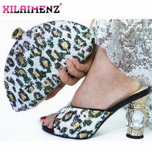 2019 Fashion Italian Design High Heels Shoes and Bag To Match Nigerian Shoes and Bag Set in White Ladies Party shoes and Bag