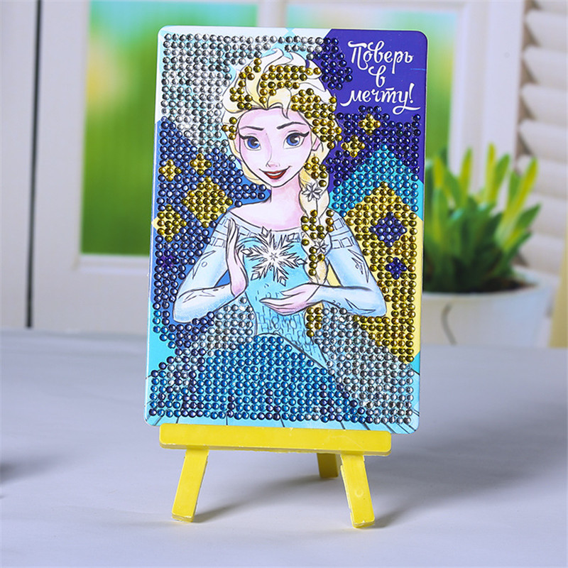 Craft Toys DIY 3D Puzzle Rhinestone Sticky Paper Painting Creative Cartoon Funny Girls Toys Educational Toys For Children SG6