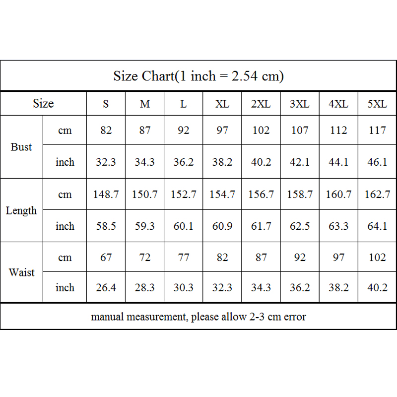 尺码表(s-5xl)