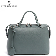 SC Women 100% Real Leather Top-handle Bags Ladies Fashion De