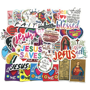 50PCS Cartoon Jesus Christ Love Faith Cute Sticker For Case Suitcase DIY Laptop Guitar Skateboard Toy Lovely Decals Stickers F5