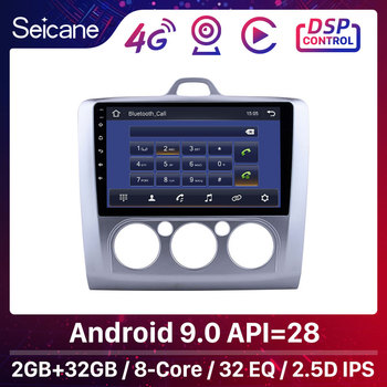 Seicane Android 9.0 9 2Din Car Radio GPS Multimedia Player For ford focus EXI MT 2 3 Mk2/Mk3 2004-2011 Touchscreen Head Unit image