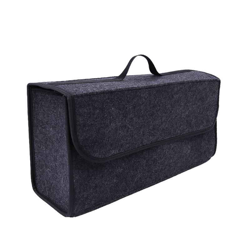 Portable Foldable Car Trunk Organizer Felt Cloth Storage Box Case Auto Interior Stowing Tidying Container Bags