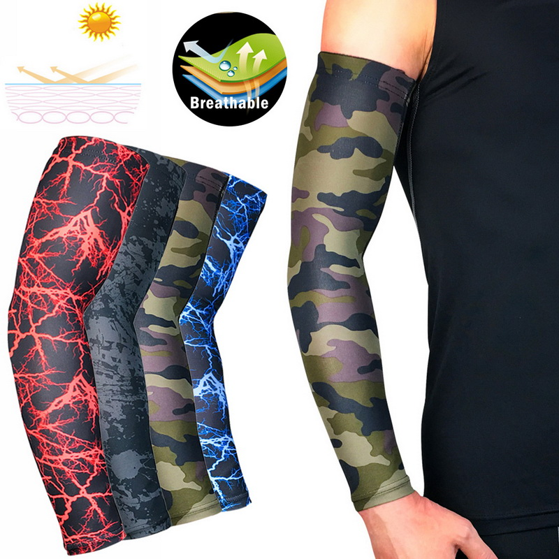 Unisex Sports Arm Sleeves High-Elastic Sun UV Protection Cover Protector For Men & Women-1 Piece