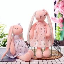 Poupée lapin à longues oreilles 35-65, jouets en peluche doux pour bébé, compagnon de couchage, Animal en peluche, cadeaux pour enfants