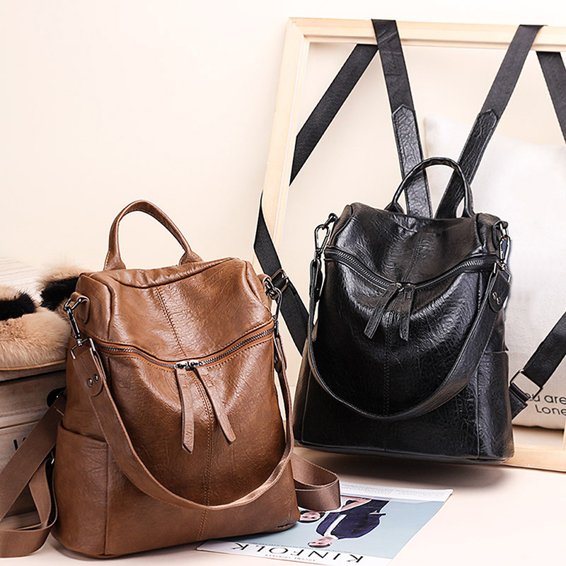 New Korean Version Backpack Women The Wild Fashion Travel Backack Woman Bag Leisure Travel Leather Backpacks
