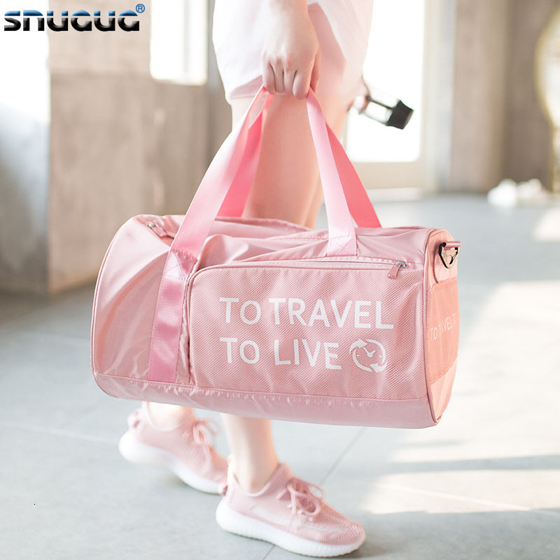 Waterproof Gym Bag Men Nylon Gym Tas Fitness Bags Pink Travel Men's Shoulder Bags For Women 2019 Male Sport Bag For Sportswear